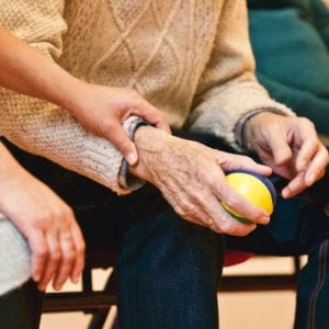 elderly adult home care and physical therapy