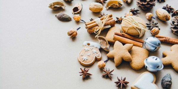 Holiday Cookie Spread with Cinnamon and Bells