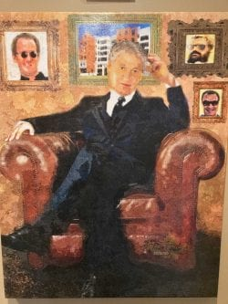 A painting of Barry Berman by Tony Epifani