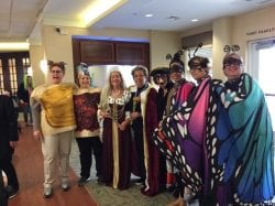 Ellen Gordon and her team during Purim