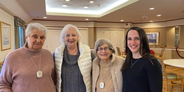Ida Rudolph, Joan Goldstein, Charlotte Moses and Kristen Donnelly, Executive Director of Cohen Florence Levine Estates